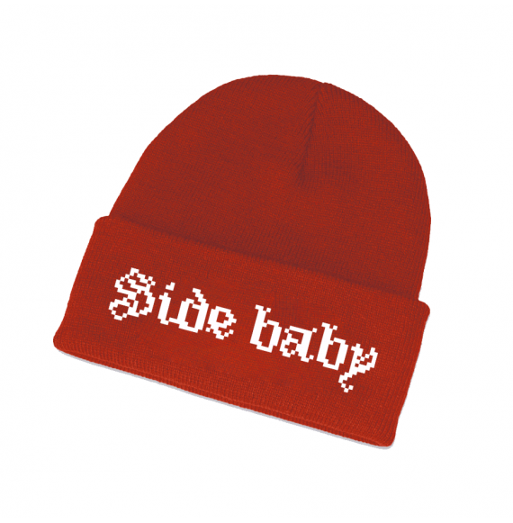 Side Beanie Red