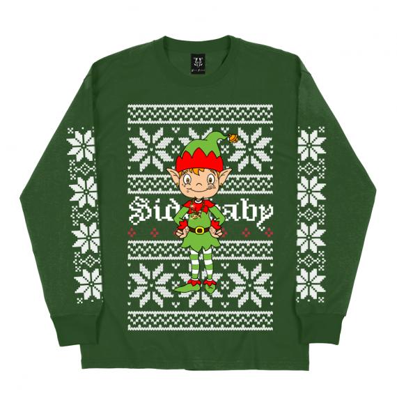 """Side Longsleeve """"Elf"""" Green"""
