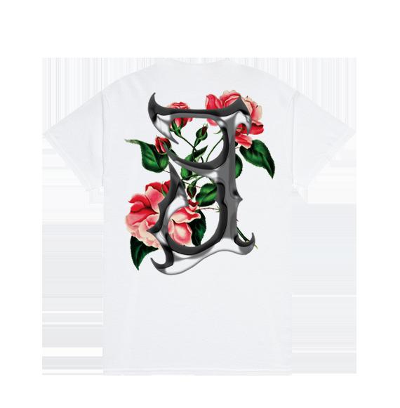 """333Mob T-Shirt """"Fiori"""" White"""