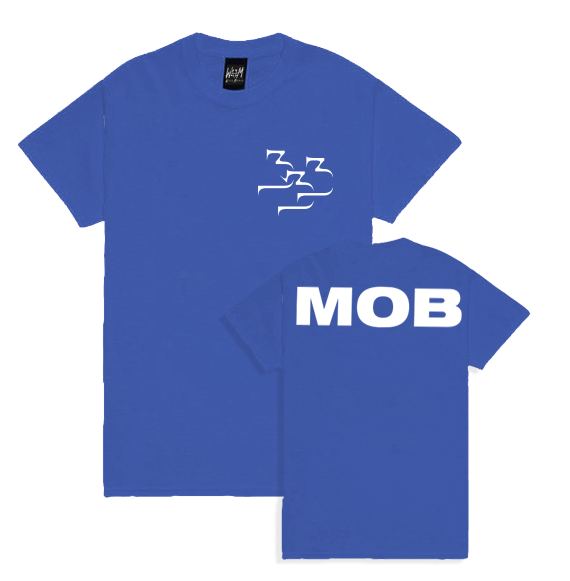 "333Mob T-Shirt ""New Logo"" Blue"